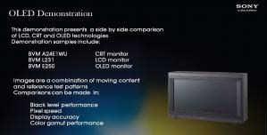 Sony OLED-Demo slide from HPA 2011