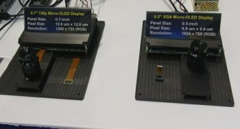 Sony 0.5'' and 0.7'' OLED microdisplays photo