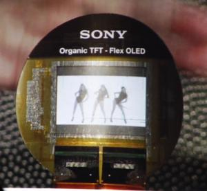 Sony Flexible OLED Prototype at CES 2009 Photo