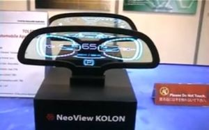 Neoview Kolon transparent OLED prototype