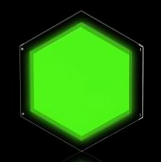 Philips Lumiblade sample hexagon green photo