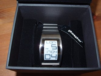 Phosphor World Time E Ink watch photo