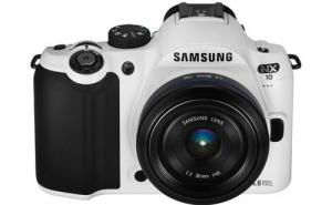 Samsung white NX-10 photo