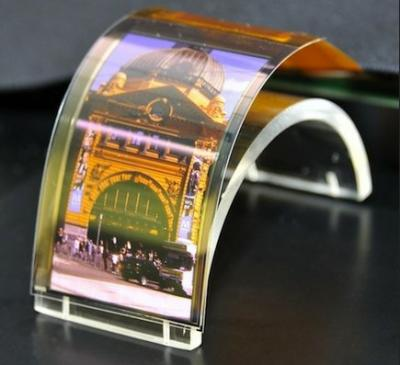 Sharp 3.4'' flexible OLED prototype photo