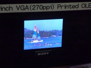 Sony 3'' hybrid printed OLED prototype (SID 2011 photo)