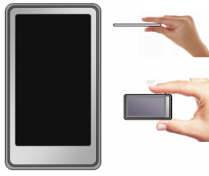 Sony touchscreen AMOLED player