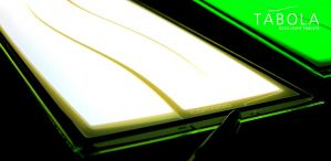 TABOLA OLED lighting panel closeup photo