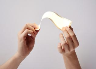 lg chem truly flexible oled lighting panel photo