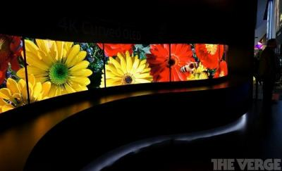 Panasonic curved 4K OLED prototypes at CES 2014