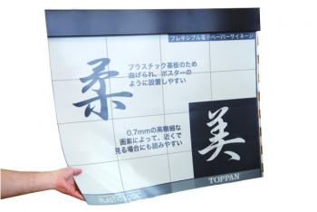 Flexible E Ink panel by plastic logic