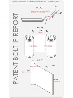 Samsung flexible device form patent image