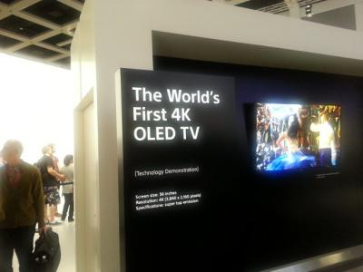 Sony 56-inch 4K OLED TV prototype