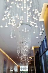 Blackbody I.Rain OLED chandelier at Europlaza, Paris