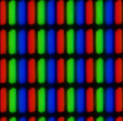 LCD subpixel matrix photto