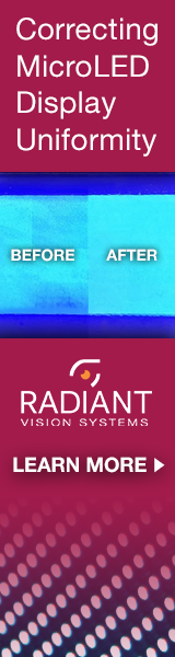 Radiant - correcting MicroLED Display Uniformity