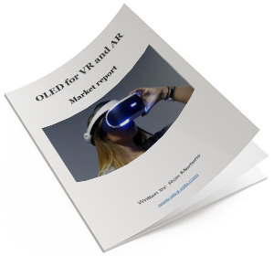 OLED for VR and AR market report cover