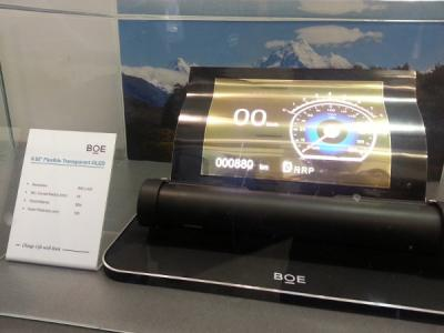 BOE 9.55'' transparent flexible AMOLED prototype (SID 2015)