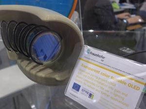 Fraunhofer transparent color-tunable OLED prototypes (blue)