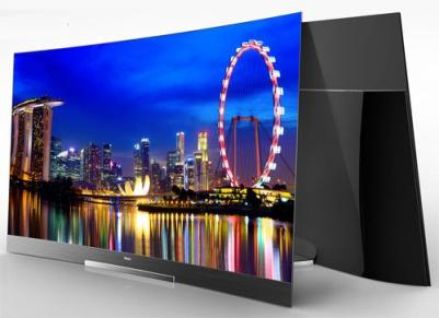Haier 55'' curved OLED TV prototype CES 2014 photo