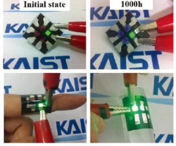 OLED device on a textile substrate (KAIST)