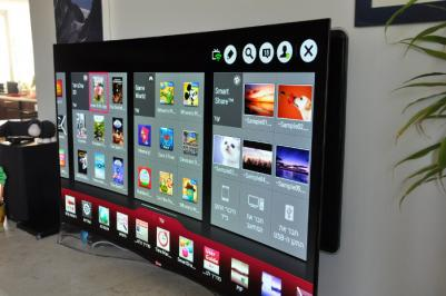 LG 55EA9800 smart menu photo