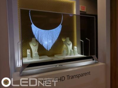 LGD 55'' transparent OLED prototype (CES 2016)