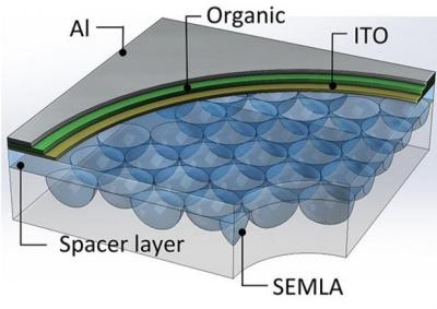 OLED micro-lens array (Michigan)