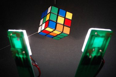 White OLEDs lighting a magic cube (ASU)