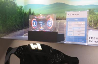 SDC 7'' transparent automotive OLED at SID 2016