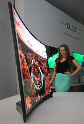 Samsung curved OLED prototype, CES 2013