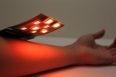 Red and infrared flexible OLED-based blood oxygen sensor (UCB)