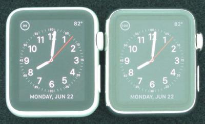 Apple watch in Ambient light (Sapphire vs Glass)