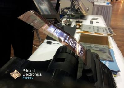 Plastic Logic 4'' flexible OTFT AMOLED prototype photo